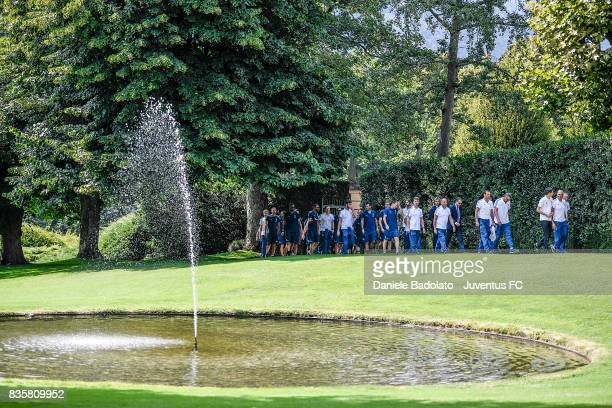 Juventus team before the preseason friendly match between Juventus A and Juventus B on August 17 2017 in Villar Perosa Italy