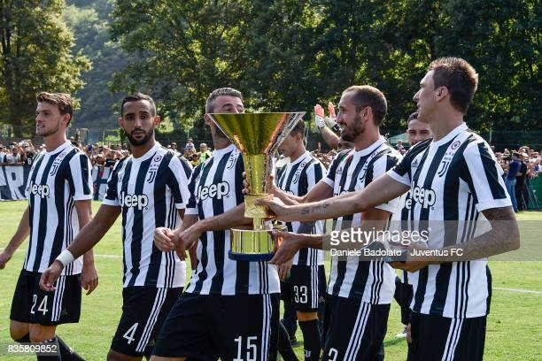 Juventus team during the preseason friendly match between Juventus A and Juventus B on August 17 2017 in Villar Perosa Italy