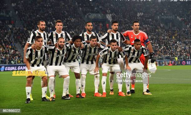 Juventus Team poses during the UEFA Champions League group D match between Juventus and Sporting CP at Juventus Stadium on October 18 2017 in Turin...