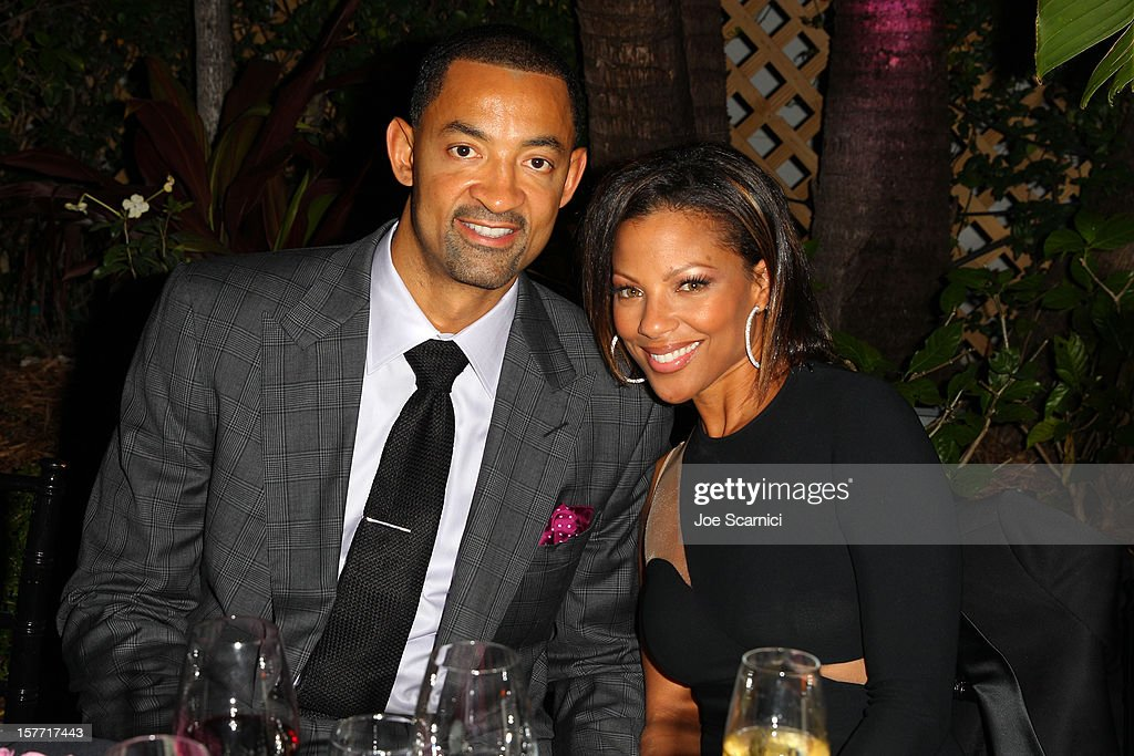Juwan Howard (L) attends the Haute Living and Roger Dubuis dinner hosted By Daphne Guinness at Azur on December 5, 2012 in Miami Beach, Florida.
