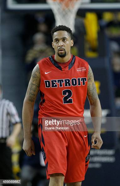 Juwan Howard Jr #2 of the Detroit Titans during the second half of a game against the Michigan Wolverines at Crisler Arena on November 20 2014 in Ann...