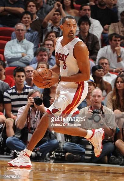 Juwan Howard of the Miami Heat controls the ball during a game against the Phoenix Suns on November 17 2010 at American Airlines Arena in Miami...