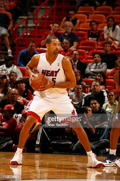 Juwan Howard of the Miami Heat in action against the Memphis Grizzlies on March 12 2011 at American Airlines Arena in Miami Florida NOTE TO USER User...