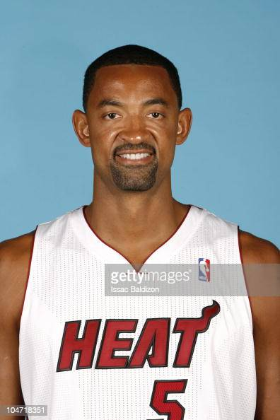 Juwan Howard of the Miami Heat poses during 2010 NBA Media Day on September 27 2010 at the Bank United Center in Miami Florida NOTE TO USER User...