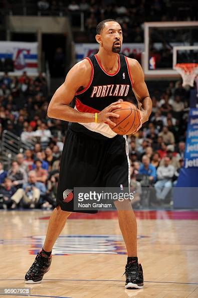 Juwan Howard of the Portland Trail Blazers moves the ball to the basket during the game against the Los Angeles Clippers on January 4 2010 at Staples...