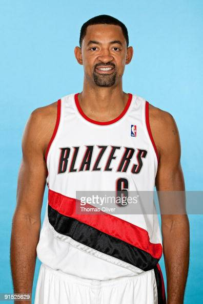 Juwan Howard of the Portland Trail Blazers poses for a portrait during 2009 NBA Media Day at the Rose Garden on September 28 2009 in Portland Oregon...