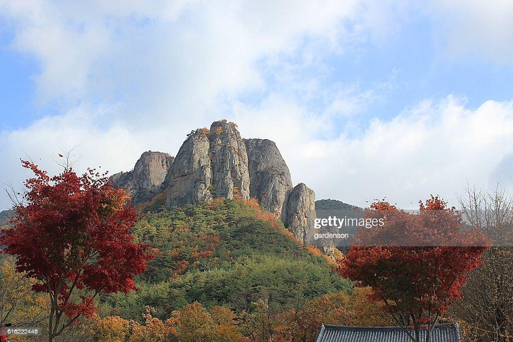 Juwangsan National Park : Stock Photo