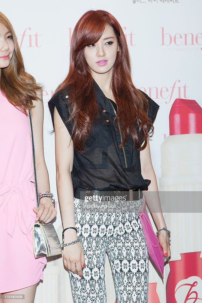 Juyeon of South Korean girl group After School attends the Benefit 'Hydra-Smooth Lip Color' launching party at JNB Gallery on July 9, 2013 in Seoul, South Korea.