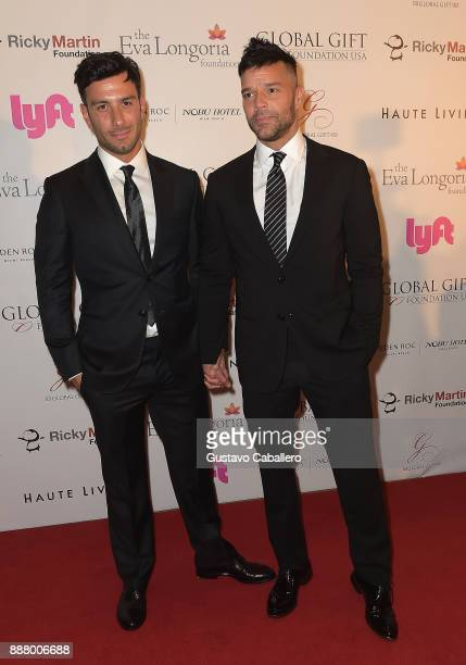 Jwan Yosef and Ricky Martin attend the Art Basel Miami Beach 2017 The Global Gift Foundation USA Benefit Hurricane Relief Efforts In Puerto Rico And...