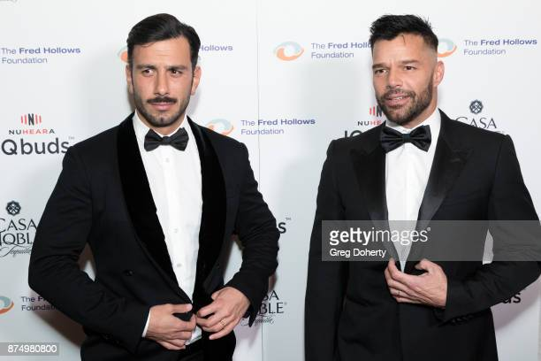 Jwan Yosef and Ricky Martin attend the Joel Edgerton Presents The Inaugural Los Angeles Gala Dinner In Support Of The Fred Hollows Foundation at...