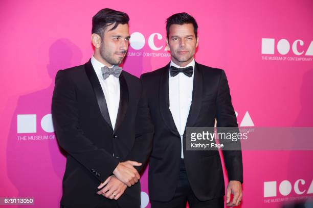 Jwan Yosef and Ricky Martin attend The Museum of Contemporary Art Los Angeles Annual Gala at The Geffen Contemporary at MOCA on April 29 2017 in Los...