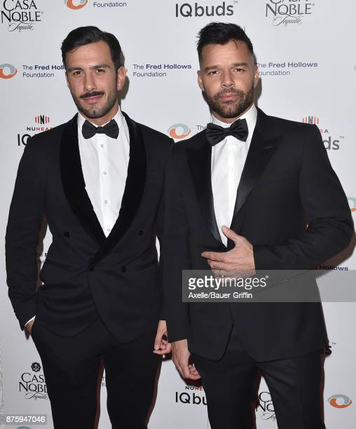 Jwan Yosef and singer Ricky Martin arrive at the inaugural Los Angeles gala dinner in support of The Fred Hollows Foundation at DREAM Hollywood on...