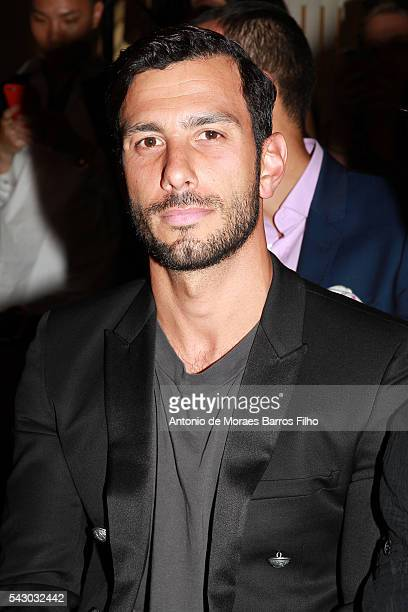 Jwan Yosef attends the Balmain Menswear Spring/Summer 2017 show as part of Paris Fashion Week on June 25 2016 in Paris France