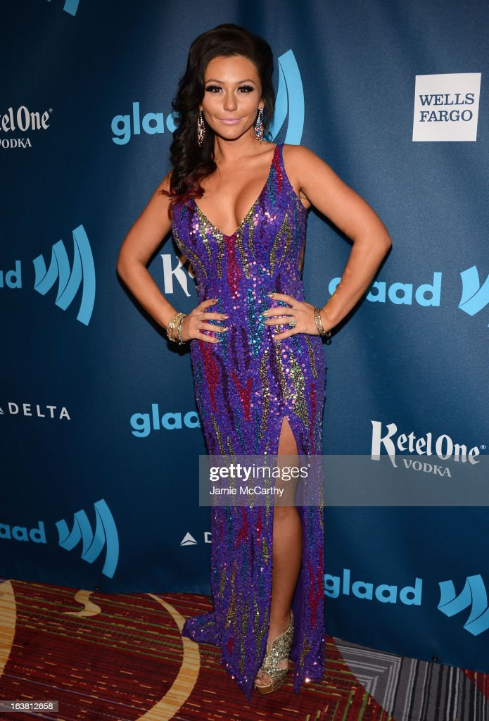JWoww attends the 24th Annual GLAAD Media Awards on March 16, 2013 in New York City.