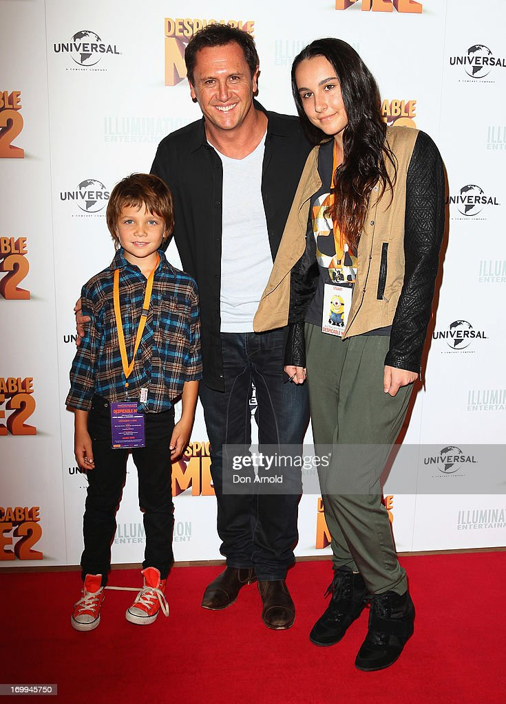 Jye, Larry and Tia Emdur arrive at the 'Despicable Me 2' Australian premiere on June 5, 2013 in Sydney, Australia.