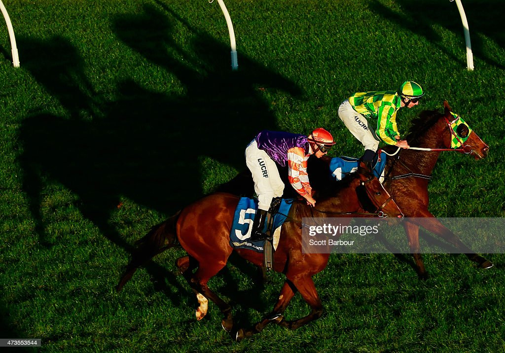 Jye McNeil riding Unfurl wins race 8 the Herald Sun Plate during Taralye Race Day at Caulfield Racecourse on May 16 2015 in Melbourne Australia