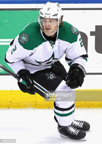 Jyrki Jokipakka of the Dallas Stars plays in a game against the St Louis Blues at the Scottrade Center on Decemeber 27 2014 in St Louis Missouri