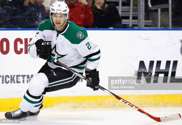 Jyrki Jokipakka of the Dallas Stars plays in the game against the Florida Panthers at BBT Center on March 5 2015 in Sunrise Florida