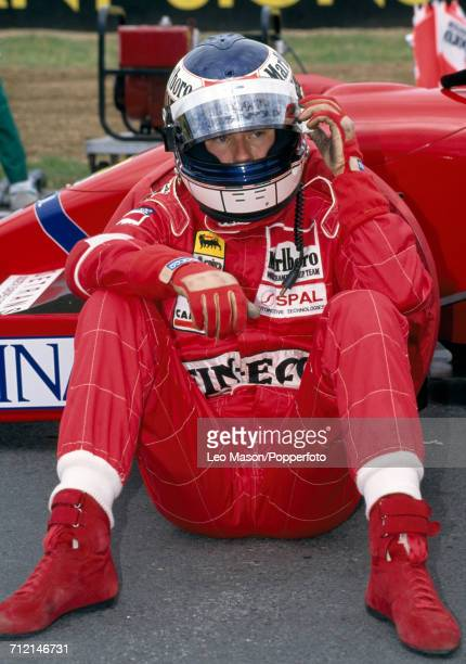 Jyrki Juhani Jarvilehto of Finland prior to the South African Grand Prix during which he drove a Dallara BMS192 with a Ferrari V12 engine for Team...