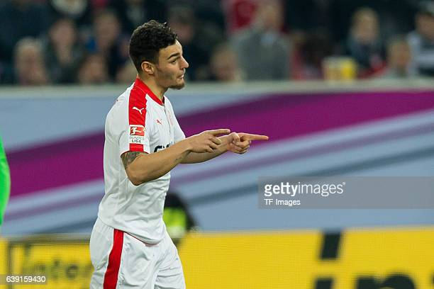 Kaan Ayhan of Fortuna Duesseldorf celebrate after the goal during the Telekom Cup 2017 at EspritArena on January 14 2017 in Duesseldorf Germany