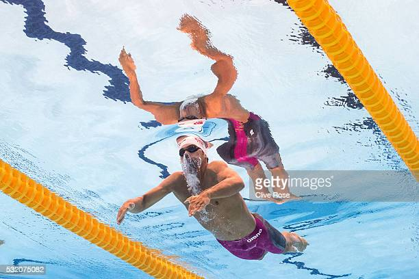 Kaan Oezcan of Turkey competes in the Men's 200m Butterfly heats on day ten of the 33rd LEN European Swimming Championships 2016 at the London...
