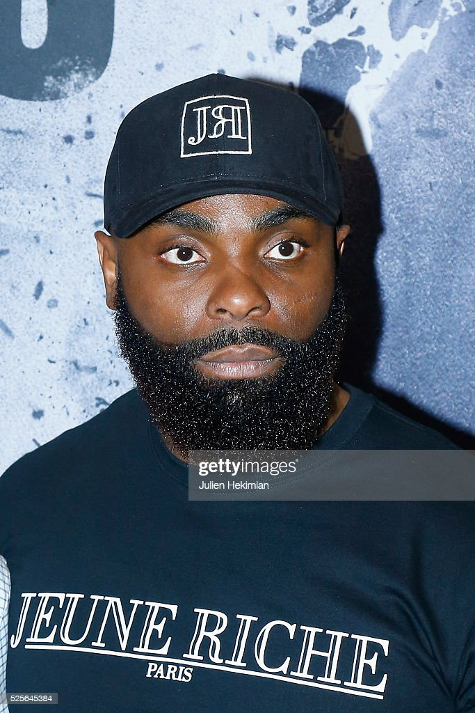 Kaaris attends 'Braqueurs' Premiere at UGC Cine Cite des Halles on April 28, 2016 in Paris, France.