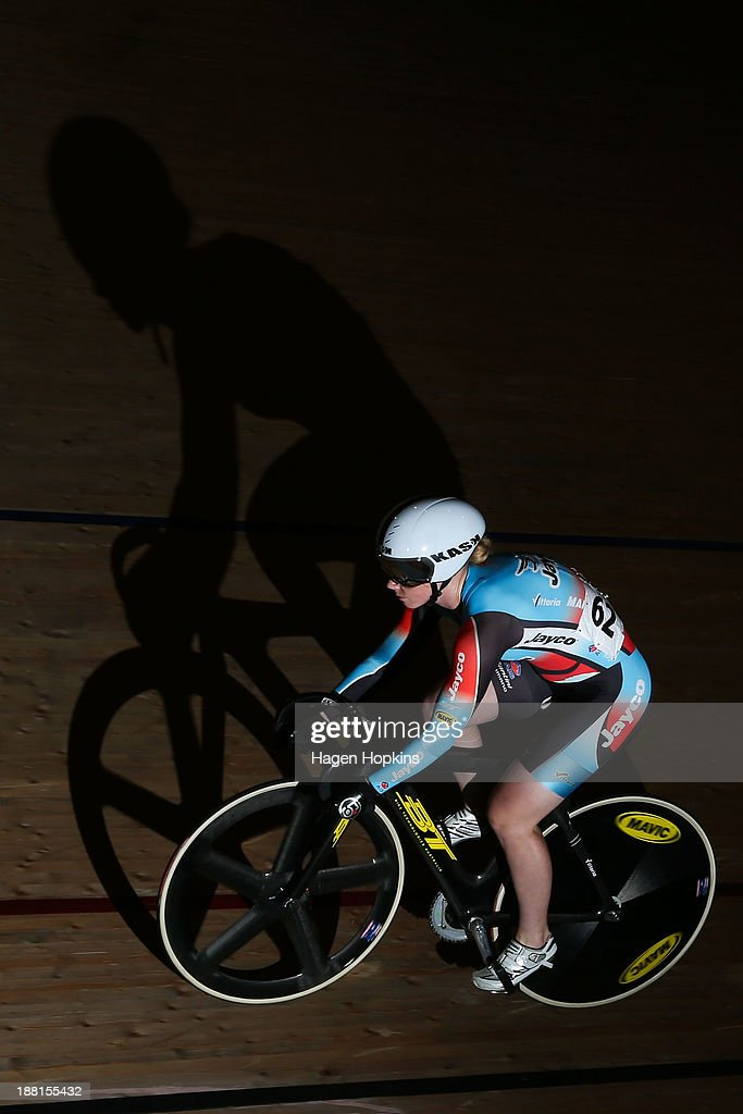Kaarle McCulloch of Australia competes in the women's sprint during the 2013 UCI Festival of Speed at SIT Zerofees Velodrome on November 16 2013 in...