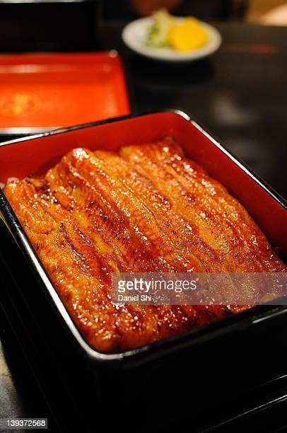 Kabayaki-don (una-don), Japanese unagi cuisine.