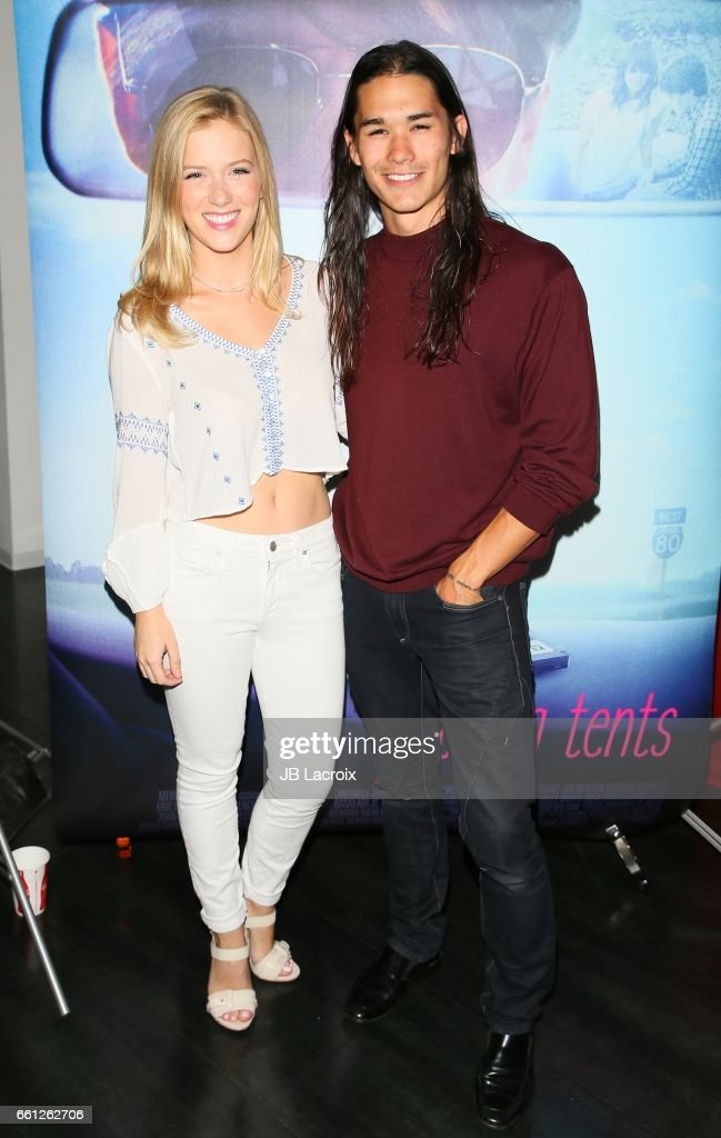 Kabby Borders and Booboo Stewart attend the premiere of Meritage Pictures' 'Pitching Tents' on March 30, 2017 in Santa Monica, California.