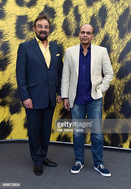 Kabir Bedi and Ashutosh Gowaeriker attend 'Mohenjo daro' photocall during the 69th Locarno Film Festival on August 13 2016 in Locarno Switzerland