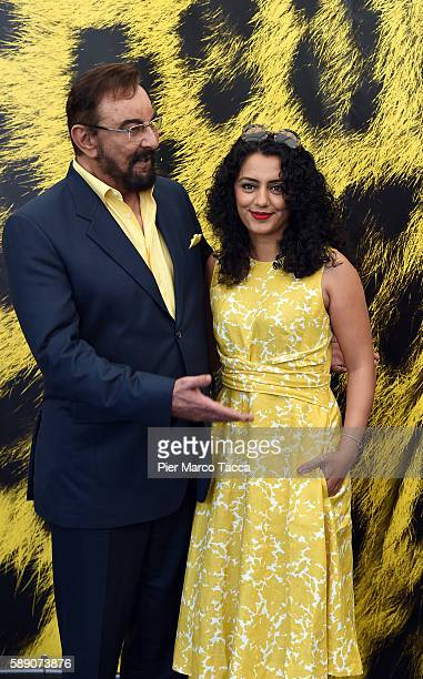 Kabir Bedi and Parveen Bedi attend 'Mohenjo daro' photocall during the 69th Locarno Film Festival on August 13 2016 in Locarno Switzerland
