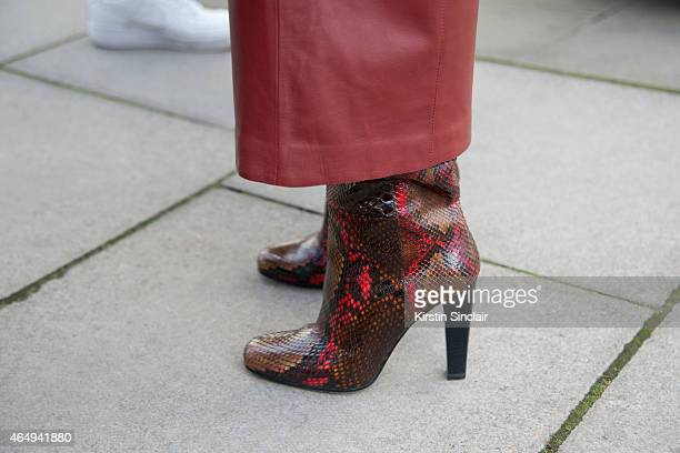 Kabuki Art Director Elina Halimi wears Proenza Schouler trousers Barbara Bui shoes on February 24 2015 in London England