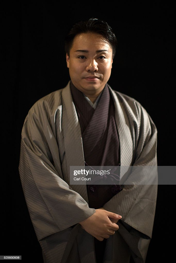 Kabuki choreographer and stage director Kanjuro Fujima poses for a photograph during the kabuki theatre show 'Hanakurabe Senbonzakura' on April 29, 2016 in Tokyo, Japan. The latest digital technology kabuki theatre piece 'Hanakurabe Senbonzakura' is part of the Niconico Chokaigi festival in Tokyo. The festival was organized by video website Niconico, combining Kabuki, a traditional Japanese theater art and cutting edge animation technology, co-starring kabuki superstar Shidou Nakamura and the popular virtual idol Hatsune Miku.