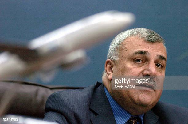 TO GO WITH 'AfghanistanaircompanyArianasched' Mohammad Nadir Atash the president of Afghanistan's Ariana Airlines talks with an AFP reporter in Kabul...