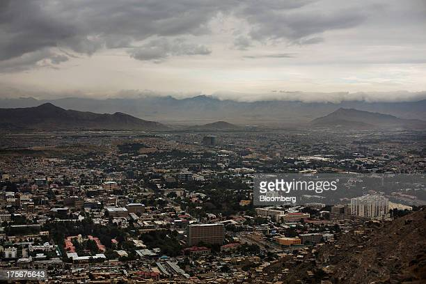 Kabul is seen in a valley between the Hindu Kush mountains from TV Tower Hill near Kabul Afghanistan on Saturday Aug 3 2013 A smooth US exit from...