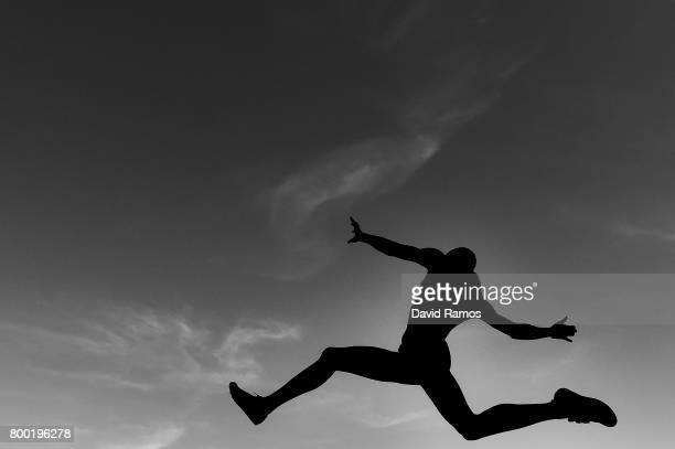 T M Kabwatanda of France competes in the Men's Long Jump National Event during day 1 of the European Athletics Team Championships at the Lille...