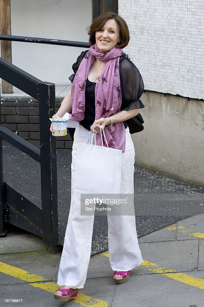 Kacey Ainsworth sighted departing ITV Studios on April 30, 2013 in London, England.