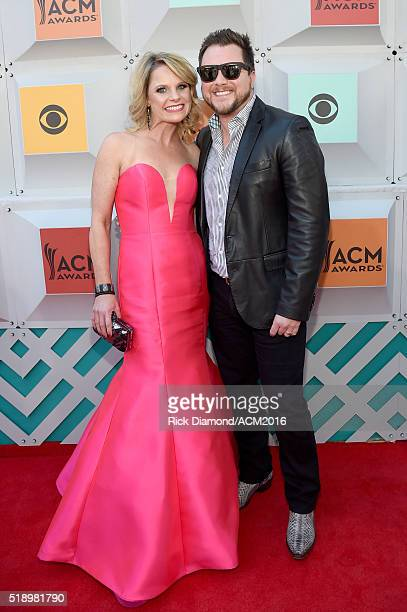 Kacey Eli and singer Mike Eli of the Eli Young Band attend the 51st Academy of Country Music Awards at MGM Grand Garden Arena on April 3 2016 in Las...