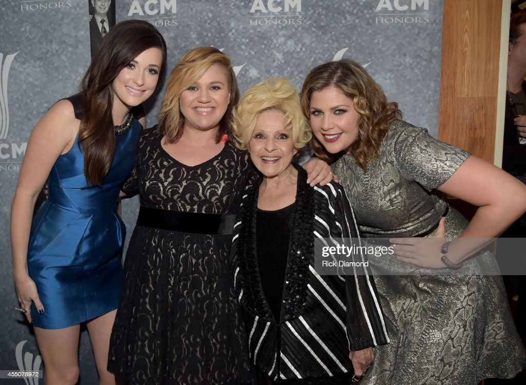 Kacey Musgraves Kelly Clarkson Brenda Lee and Hillary Scott attend the 8th Annual ACM Honors at Ryman Auditorium on September 9 2014 in Nashville...