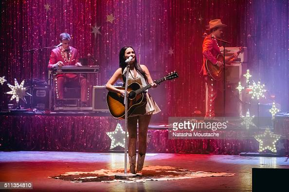Kacey Musgraves performs at the Orpheum Theater on February 19 2016 in Boston Massachusetts