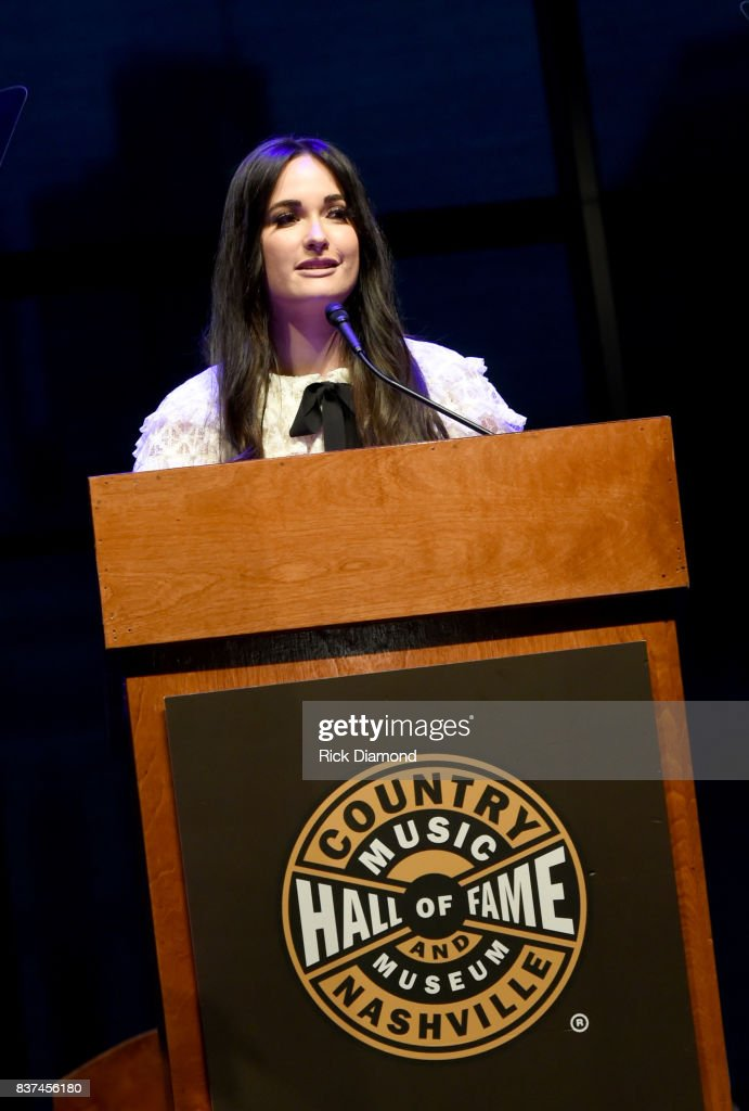 Kacey Musgraves speaks onstage during the exhibition opening of Loretta Lynn: Blue Kentucky Girl at Country Music Hall of Fame and Museum on August 22, 2017 in Nashville, Tennessee.