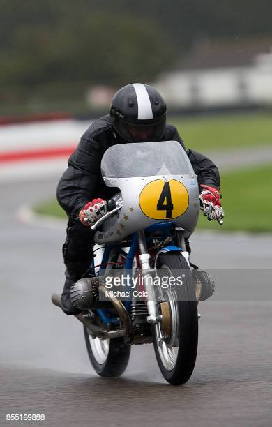 Kaczor R50S entrant BMW Group Classic ridden by Hans Aigner Claus Clausen in the Barry Sheene Memorial Trophy at Goodwood on September 8th 2017 in...