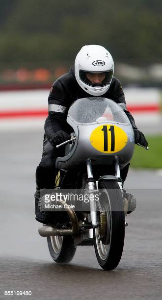 Kaczor R50S entrant BMW Group Classic ridden by Troy Corser Sebastian Gutsch in the Barry Sheene Memorial Trophy at Goodwood on September 8th 2017 in...