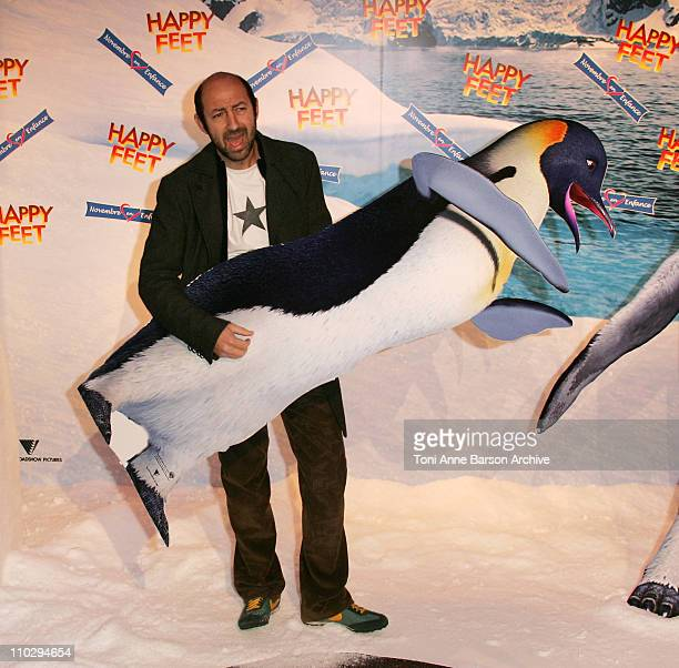 Kad Merad during 'Happy Feet' Paris Premiere Arrivals at Gaumont Marignan Theater in Paris France