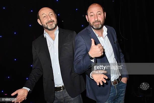 Kad Merad poses with his wax work during Kad Merad Wax Work Unveiling at Musee Grevin on March 21 2016 in Paris France