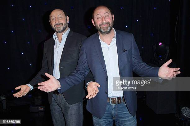 Kad Merad unveils his waxwork during the Opening Photocall at Musee Grevin on March 21 2016 in Paris France