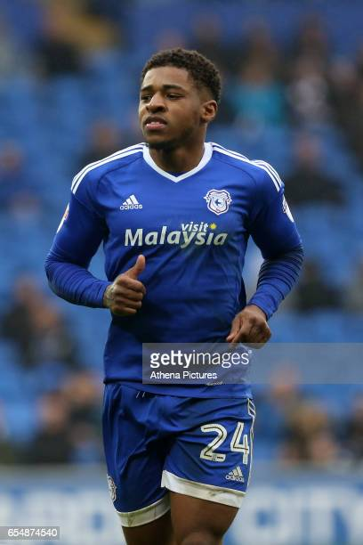 Kadeem Harris of Cardiff City during the Sky Bet Championship match between Cardiff City and Ipswich Town at The Cardiff City Stadium on March 18...