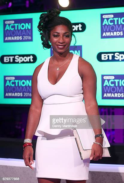 Kadeena Cox attends the BT Sport Action Woman of the Year awards on December 12 2016 in London United Kingdom
