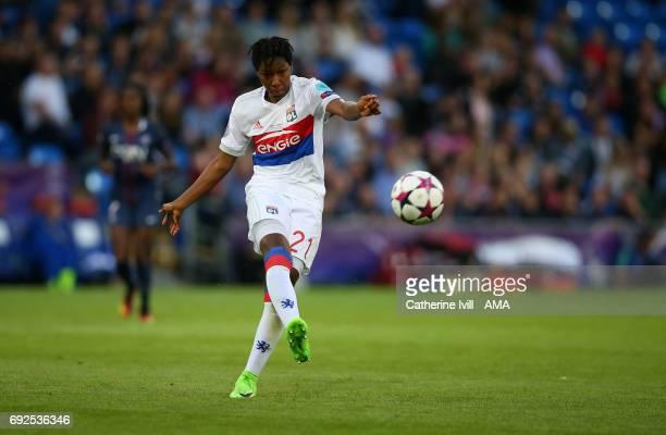 Kadeisha Buchanan of Olympique Lyonnais during the UEFA Women's Champions League Final match between Lyon and Paris Saint Germain at Cardiff City...