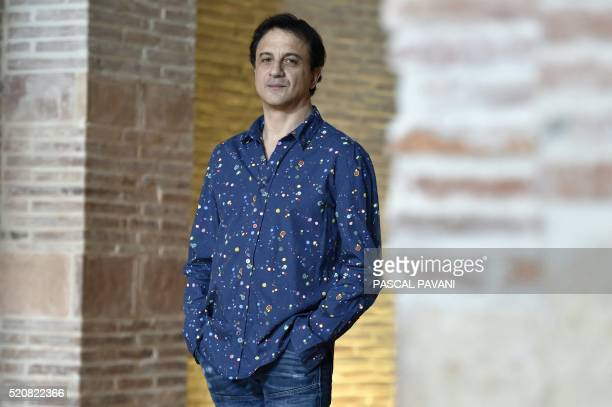 Kader Belarbi dance director and choreographer of the Toulouse capitol ballet poses for a photograph on April 12 2016 in the Auditorium SaintPierre...